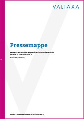 VALTAXA Pressemappe Stand 17.08.2017