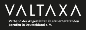 VALTAXA-Logo SW negativ