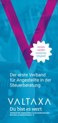 VALTAXA Flyer für Auszubildende