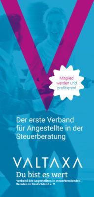 VALTAXA Flyer für Mitglieder